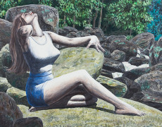 Robert E. Gilbert, Woman on Rock, 1971