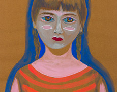 Christine Shields, Girl with Stripes, 2010