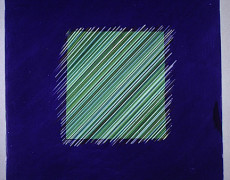 Judith Kunda, Bright square blue green, 1985