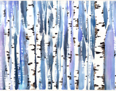 Mayee Futterman, Blue Birch, 2013
