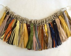Lili T. | LEATHER TASSEL KEY IN A RAINBOW OF COLORS
