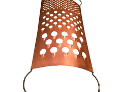 Curtis Jere Vintage Giant Copper Grater Sculpture