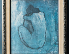 Blue Nude Mid Century Picasso Reproduction by Turner, Femme Nue II, 1902
