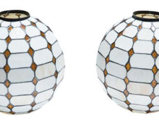 Leaded Stain Glass Globes – A Pair