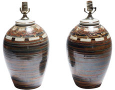 Signed Petteford Studio Pottery Lamps – A Pair
