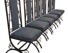 Hollywood Regency Gothic Dining Chairs – Set of 6