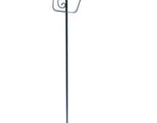 French Blue Metal Heart Floor Lamp