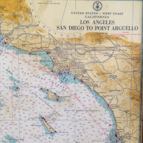 Vintage San Diego Map.Vintage California Map Tray Good Eye Gallery