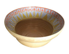 Hand Etched Ceramic Sun Bowl
