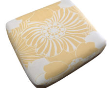 Yellow Floral Floor Cushion