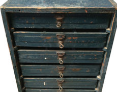 Vintage Industrial Wooden Tool Cabinet