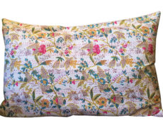 King Cotton Floral Kantha Pillowcases – Pair
