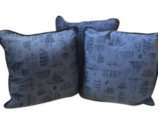 Set of Three Nautical Pillows
