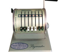 Vintage Industrial Paymaster Machine