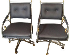 Hollywood Regency Office Chairs – A Pair