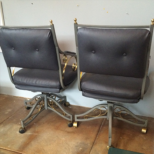 Hollywood Regency Office Chairs A Pair Previous Next Regencyofficechairs 1 3 4 5