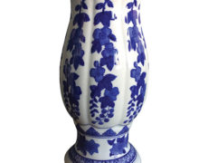 Seymour Mann China Blue Porcelain Vase