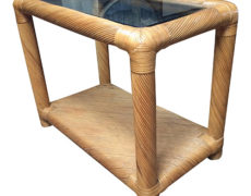 Two Tier Rattan Table