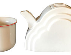 Japanese Cloud and Rainbow Teapot and Mug Set