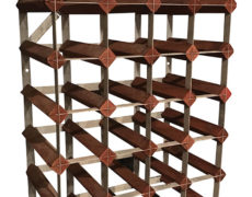 Mid-Century Wood and Metal Wine Rack