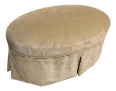 Contemporary Oval Upholstered Ottoman
