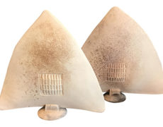 Large Ceramic Arrowhead Sculptures – a Pair