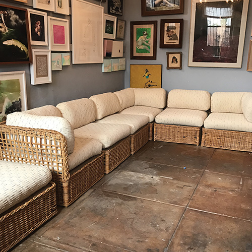Cool Vintage Rattan Sectional Sofa Set Good Eye Gallery Inzonedesignstudio Interior Chair Design Inzonedesignstudiocom